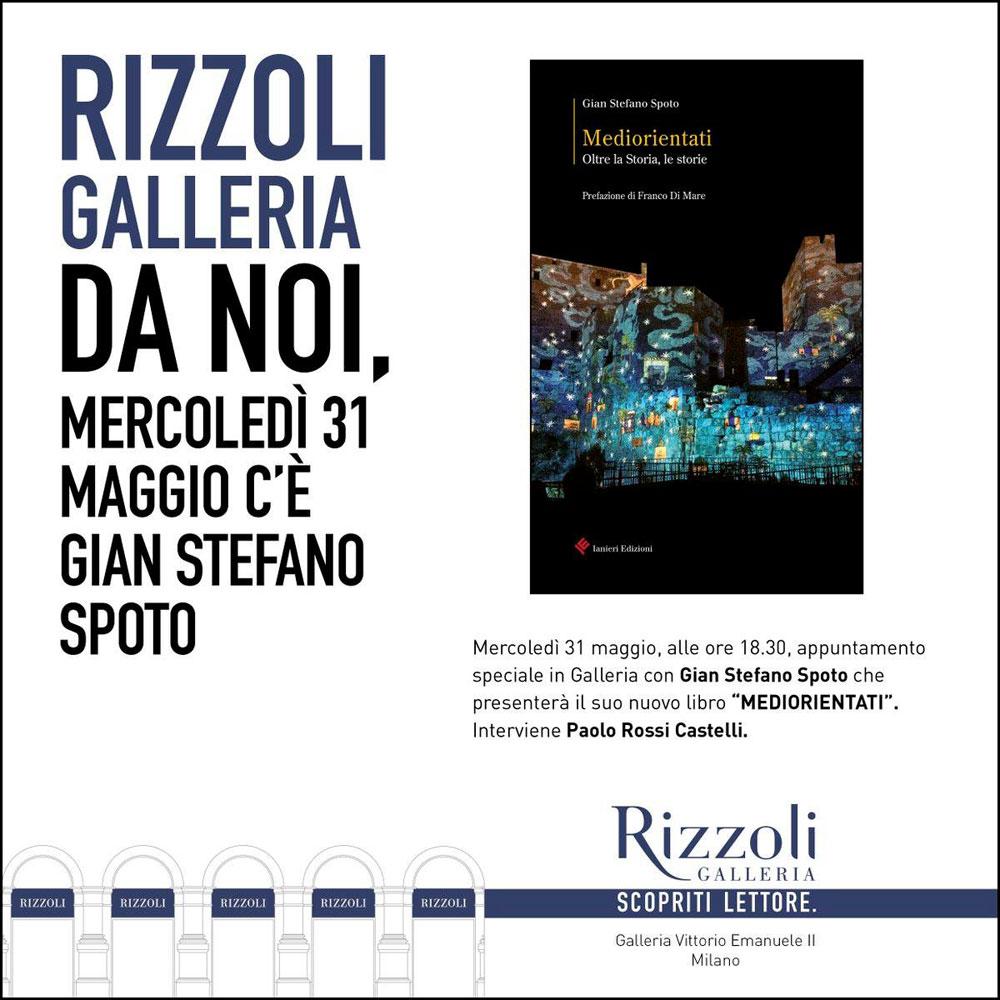 Presentazione Mediorientati Galleria Rizzoli Milano