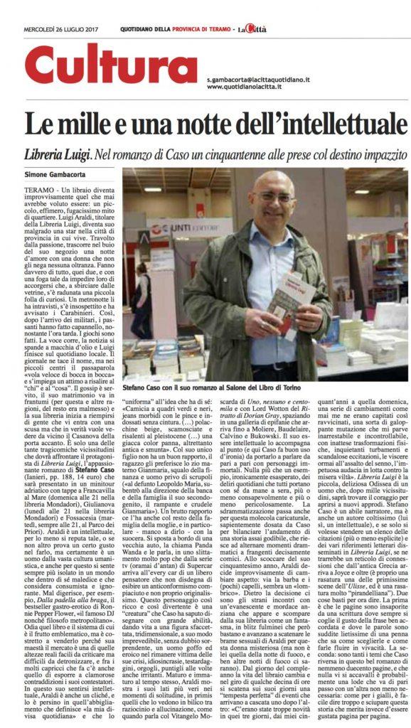Recensione LaCittà a Stefano Caso