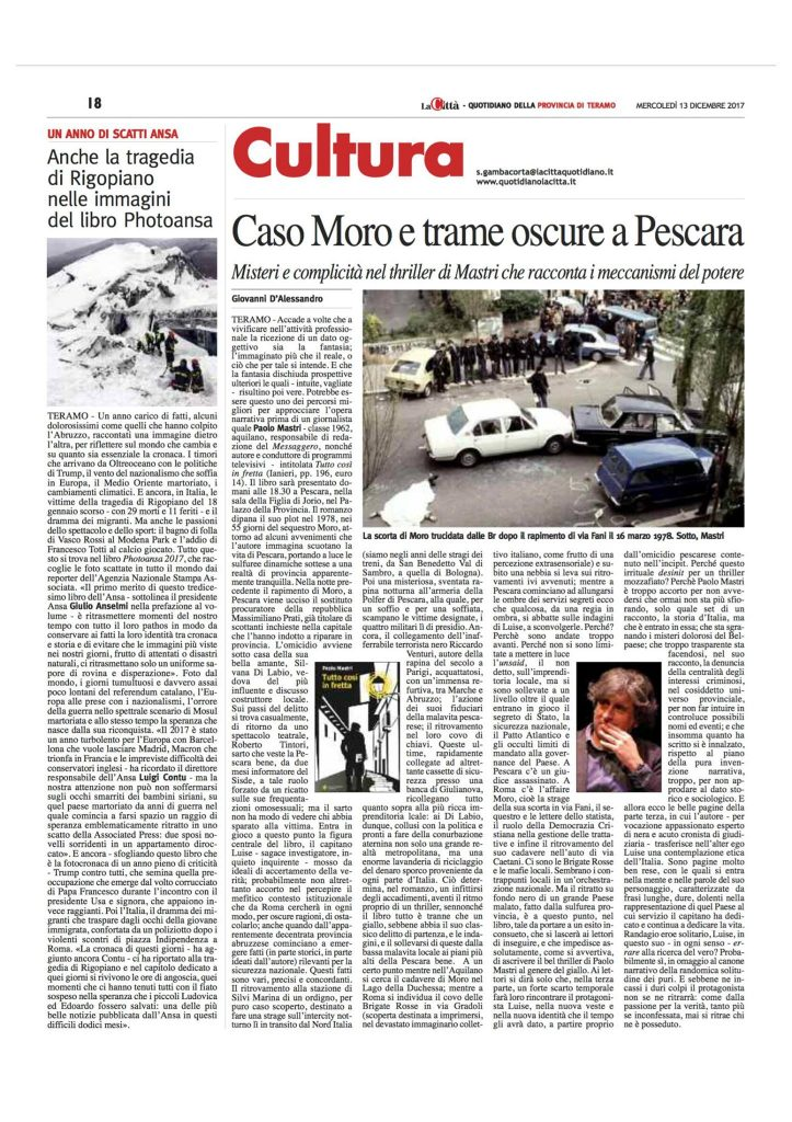 """Il primo romanzo di Paolo Mastri, """"Tutto così in fretta"""""""
